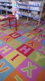 Buchstabenteppich